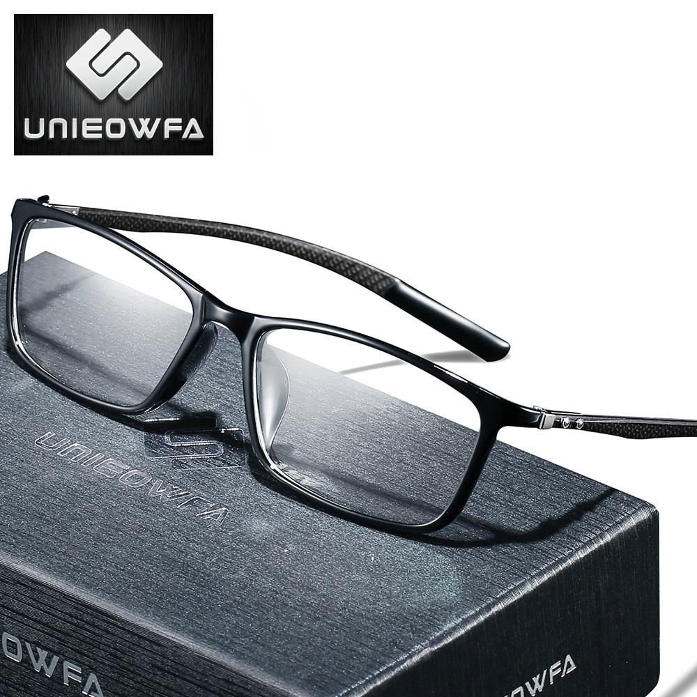 Carbon Fiber Prescription Glasses Men Optical Myopia Eyeglasses Progressive Multifocal Eye Glasses Photochromic Anti Blue Light