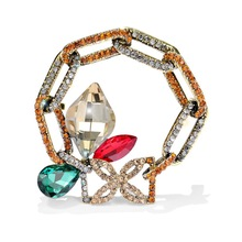 Austrian Imitation Crystal Brooch Antique Palace Style Ornament Brooch Japanese and Korean Sweater Chain Gift