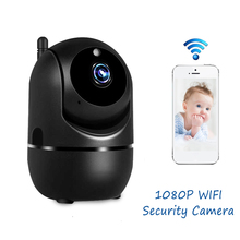 Ip-Camera Tracking Security-Monitoring Indoor Wireless 1080p Mini Black Home HD Automatic