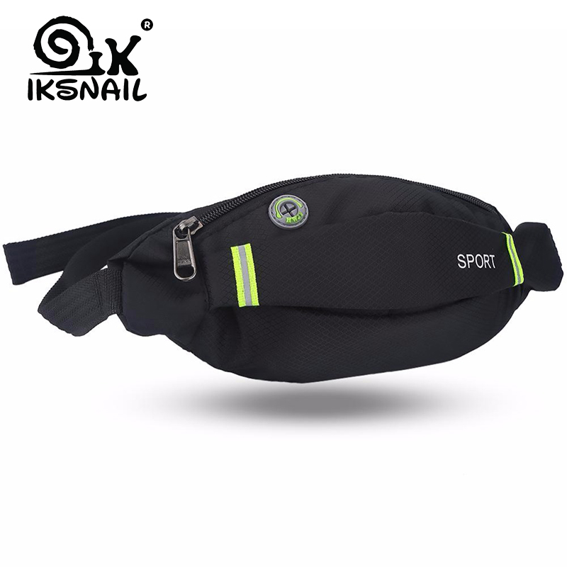 IKSNAIL Running Waist Bag Sport Pack Cycling Bag Belt Fanny Waist Pouch Outdoor Travel Racing Hiking Gym Fitness Purse Men Women