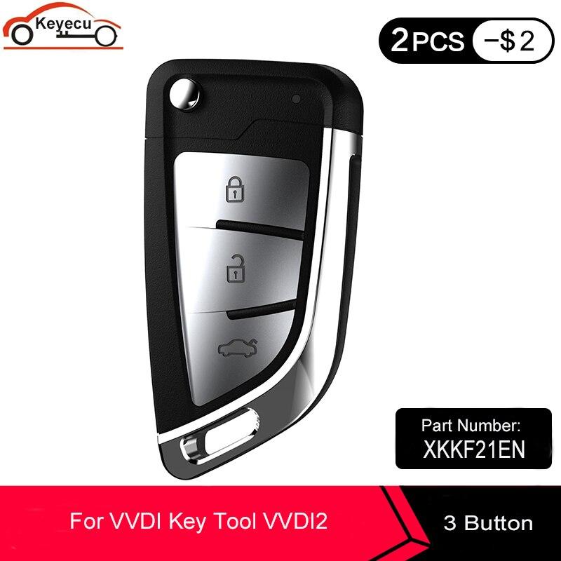 Универсальный Бесконтактный смарт-ключ KEYECU XHORSE XKKF21EN для провода, универсальный инструмент для ключей VVDI, английская версия