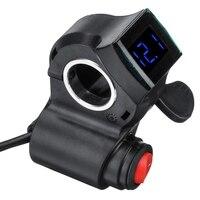 Interruptor elétrico do polegar do dedo do trotinette com display led para a bicicleta elétrica 36 v/48/60/72 v