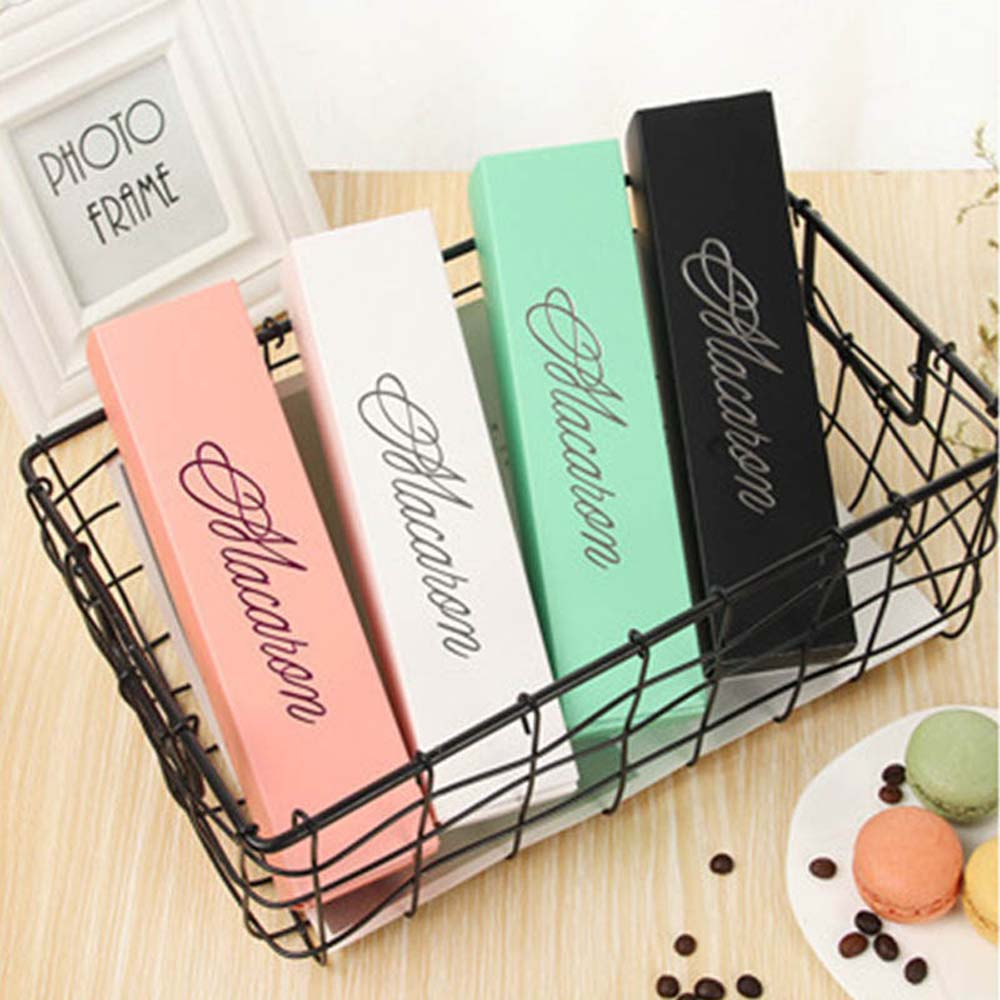 Macaron Packaging Box Beautifully Packaged Wedding Party Cake Storage Biscuit Paper Box Cake Decoration Baking Accessories