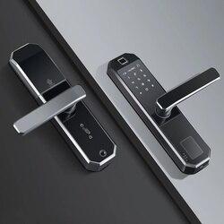 Cerradura de puerta inteligente biométrica sin llave Bloqueo de huella digital inteligente