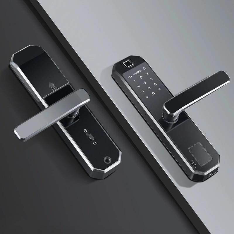 Tuya Intelligent Door Lock Lock Biometric Wifi Keyless Access Smart Fingerprint Lock