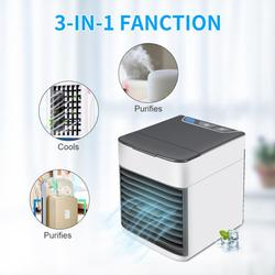 Air Cooler Ultra Portable 7 Color LED USB Charging Desktop Air Conditioning Humidifier Personal Space Cooler Fan Air Conditioner