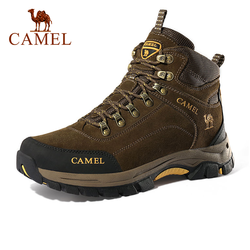 CAMEL Men Hiking Shoes Anti-Slip Outdoor Tactical Shoes Walking Trekking Climbing Sneakers Zapatillas Comfortable Boots