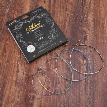 Alice A747 struna do skrzypiec niklowana stal wysokowęglowa nylonowy rdzeń srebrne rany akcesoria do instrumentów muzycznych tanie i dobre opinie ZIKO CN (pochodzenie)