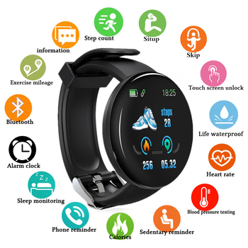 2020 New Sport Bluetooth Smart Watch Men Blood Pressure Round Smartwatch Women Watch Waterproof Tracker WhatsApp For Android Ios diggro di10 smart sport watch ip68 waterproof pedomete long standby time bluetooth 4 0 smart 1 21 inch watch for ios android