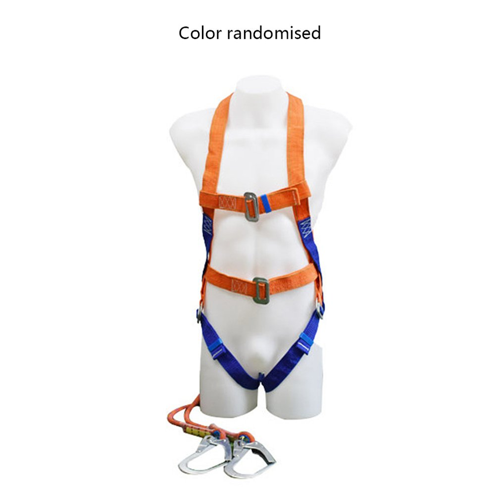 Aerial Work Polypropylene Double Rope Hook Five-point Full Body Harness High-altitude Industrial Safety Belt