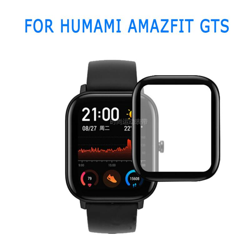 1 2 3 5PCS 3D Curved Edge Full Coverage Soft Clear Protective Film Cover For Amazfit GTS  LCD Screen Protector Guard Not Glass