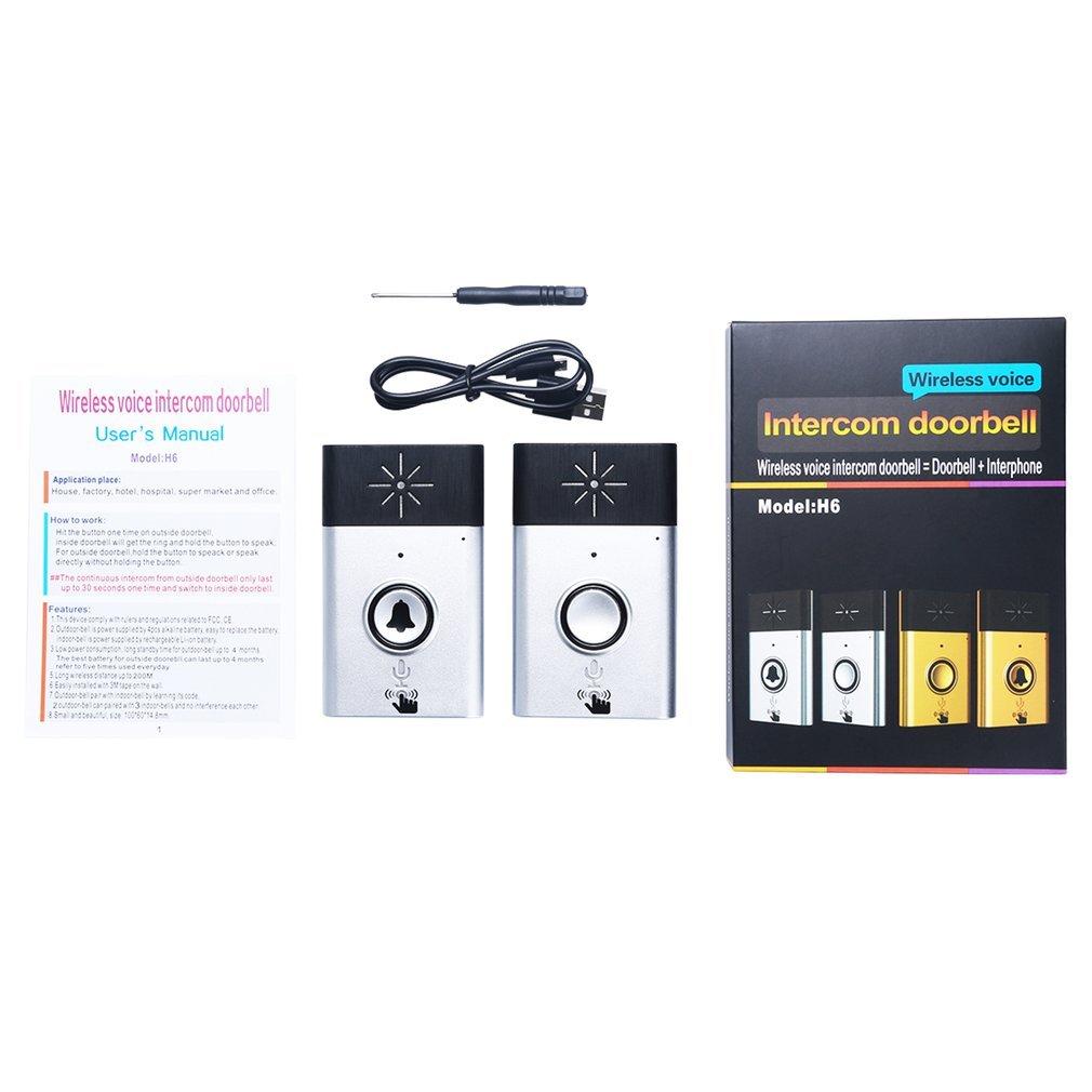 CST-H611 H6 Wireless Doorbell Voice Intercom 300M Distance Outdoor Transmitter Indoor Receiver Intelligent With Fixed Paste
