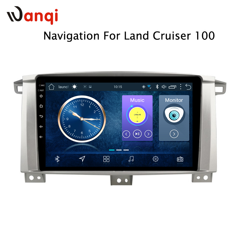 wanqi Android 8.1 Car Multimedia Player for <font><b>Toyota</b></font> <font><b>LC</b></font> <font><b>100</b></font> Land Cruiser <font><b>100</b></font> Navigation Built-in wifi Bluetooth image