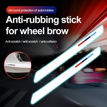 ПВХ колеса автомобиля бровь бампер протектор отделка стикер автомобиля-стайлинг и наклейки края анти-столкновения анти-руб наскрести