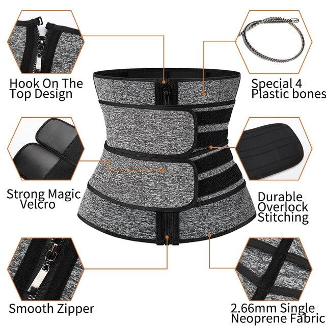 Men Waist Trainer Body Shaper Slimming Belt Support Underwear Sweat Weight Loss Corset Neoprene Sauna Waist Trimmer Belt 2