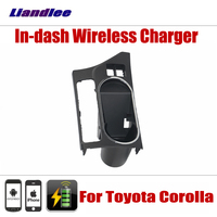 Liandlee Car Wireless Charger Station For Toyota Corolla 2015 2018 Storage Box Case Fast Wireless Charging Car Phone Holder