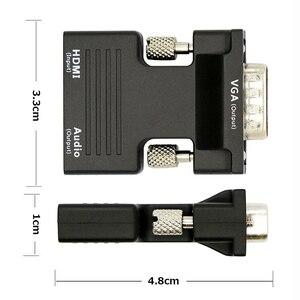 Image 5 - HDMI To VGA Male 3.5 Mm Âm Thanh AUX Cáp Video 1080P FHD Đầu Ra Cho Máy Tính laptop Tivi Màn Hình Máy Chiếu