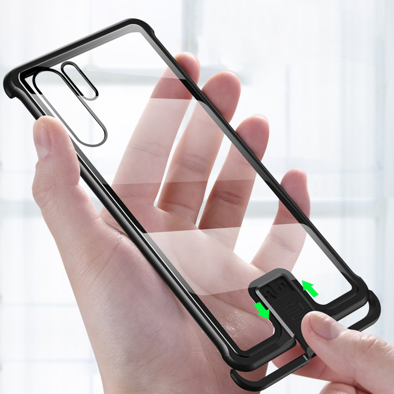 P30 Pro Case Tempered Glass Metal Bumper Cover for P30 Mate 20 Nova 5 Pro Shockproof Alumium Case for Honor 20 Pro Funda Phone Bumpers     - title=