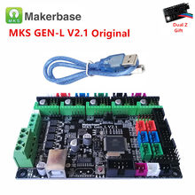 Mks gen l v2.1 3d impressora painel de controle mainboard diy starter peças apoio tmc2208 2209 drv8825 tmc2130 a4988 eixo duplo z