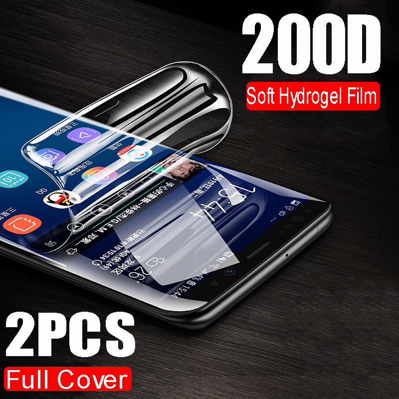 3-1Pcs 200D Soft Hydrogel Film For Samsung Galaxy Note 10 8 9 S8 S9 S10 PLus S10E A50 A70 Full Screen Cover Protector Not Glass