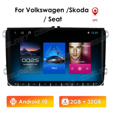 2G + 32G 2Din Android10 Radio Stereo Đa Phương Tiện GPS Cho VW Volkswagen Golf Skoda Nhanh Chóng octavia Tiguan Passat B7 BT