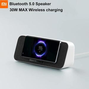 Image 1 - شاومي 30 واط ماكس اللاسلكية شحن بلوتوث 5.0 المتكلم مع ميكروفون دعم مي AI NFC آيفون 11 سامسونج شاومي 9 10 برو