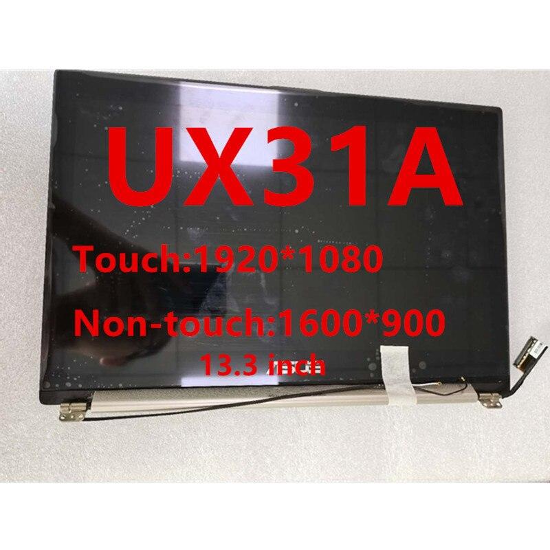 13,3 дюймовый ноутбук ЖК дисплей Экран для Asus ZenBook UX31A сборки верхняя половина комплект светодиодный матричный дисплей Замена Сенсорный экран Экран ЖК-экран для ноутбуков      АлиЭкспресс
