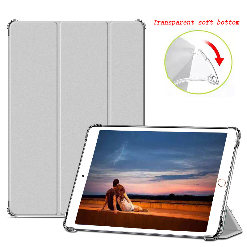 Gray 1 Gray 2020 case For iPad 10 2 inch 8th 7th Generation model A2270 A2428 Silicone soft bottom