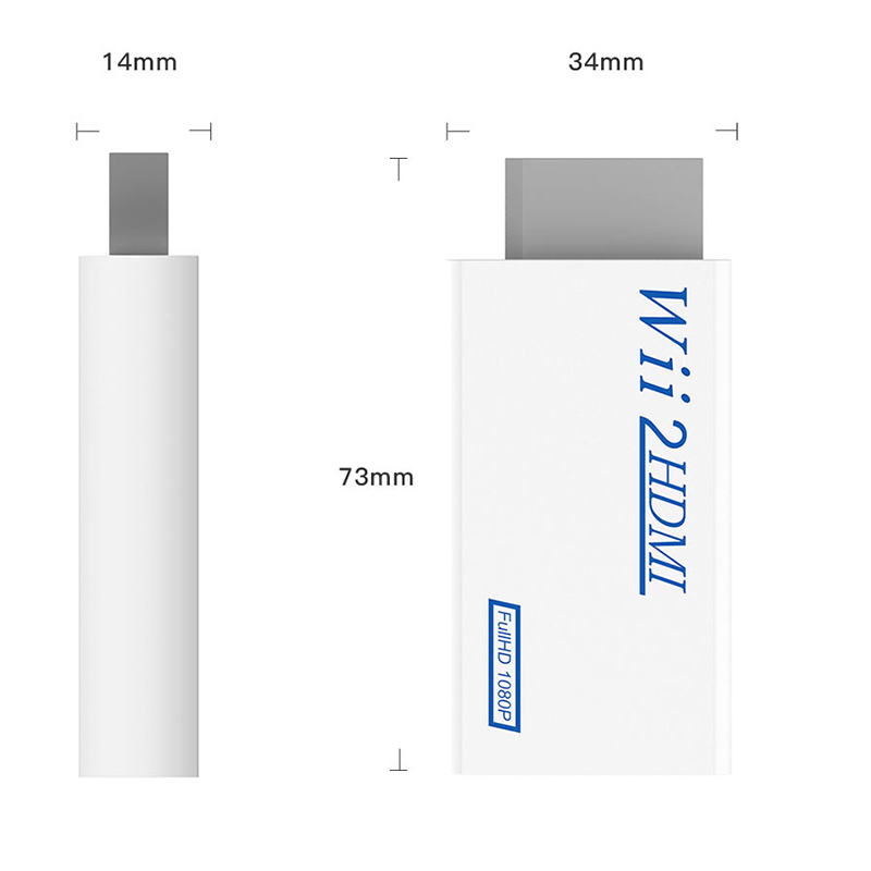 H36768c6b8c1348448815012c90f2cd429 For Wii TO HDMI Converter Wii2HDMI with 3.5mm Audio Video Output Automatic Upscaler Adapter Support NTSC 480i PAL 576i 1080P