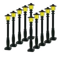 10 Pçs/set MOC Acessórios Peças de Blocos de Construção Da Cidade Street Lamp DIY Crianças Educacionais Tijolos Brinquedos Presentes