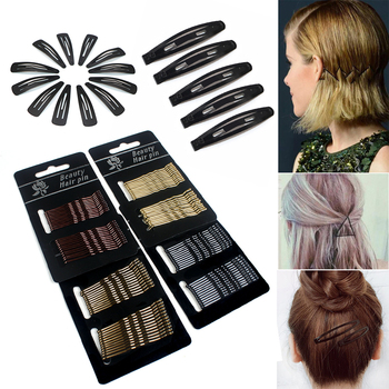 12/24/36/60Pcs Hair Accessories Clips for Women Girls Invisible Curly Wavy Grips Hairpins Barrette Styling