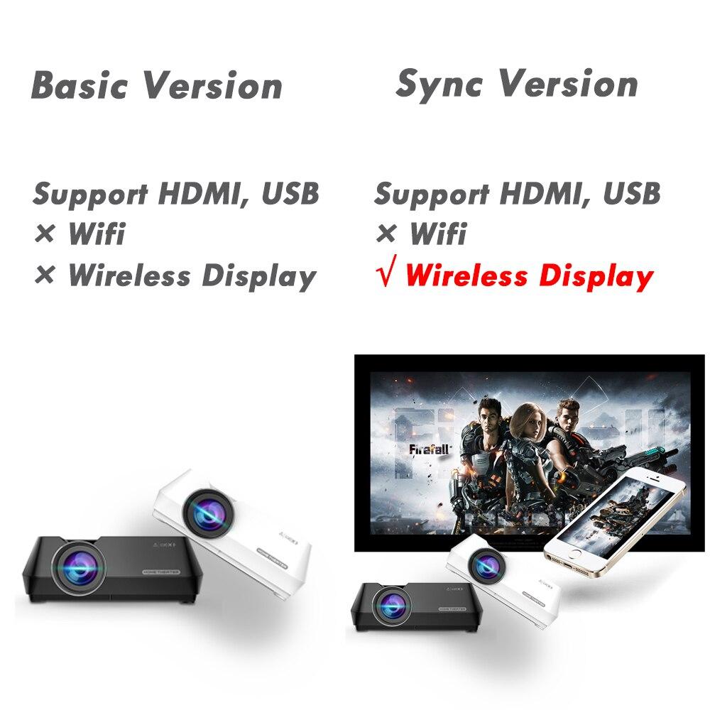 Wejoy Mini projecteur GT8 Portable affichage sans fil synchronisation en option Projetor données spectacle FHD Beamer théâtre Proyector HIFI haut-parleur - 2