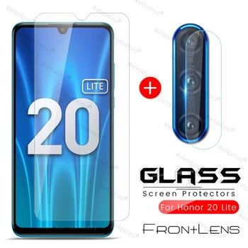 Перейти на Алиэкспресс и купить Хонор 20 лайт стекло honor 20 lite 2-в-1 камера защитное стекло на honor 20 lite светильник 2020 mar-lx1h 6,15 ''пленка для экрана телефона