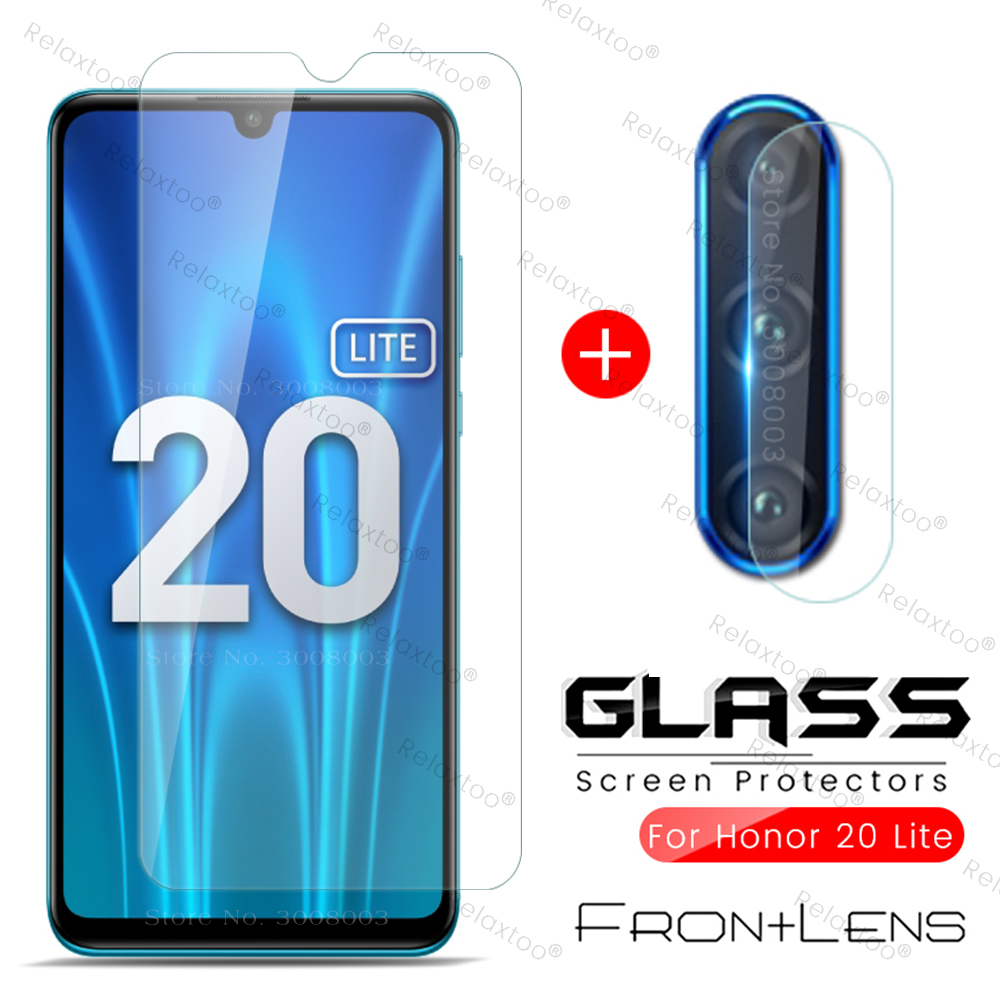 хонор 20 лайт стекло Honor 20lite 2-in-1 Camera Protective Glass On Honor 20 Lite Light 2020 Mar-lx1h 6.15'' Phone Screen Film