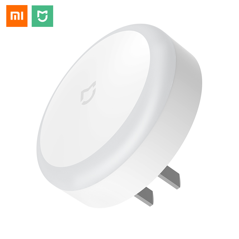Original Xiaomi Mijia Plug-in Night Light With Light-Sensitive Sensor Touch Switch Intelligent Motion Night Light