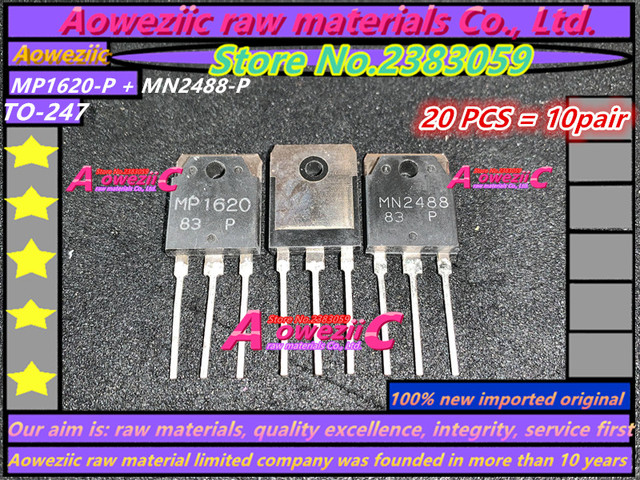 Aoweziic 100% جديد المستوردة الأصلي MP1620 P MN2488 P MP1620 MN2488 TO 247 الصوت مكبر كهربائي الترانزستور