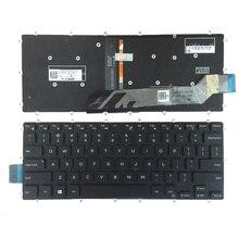 الولايات المتحدة الأحمر/الأبيض لوحة مفاتيح dell انسبايرون 13 5368 5378 5578 7368 7378 لوحة مفاتيح الكمبيوتر المحمول الأسود مع الخلفية