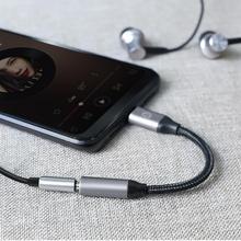 USB C do 3 5mm AUX Adapter słuchawkowy typ C do 3 5mm Jack słuchawki Audio Adapter Splitter kabel do Huawei Xiaomi inteligentny telefon tanie tanio centechia CN (pochodzenie) Mobile Phone Adapters Converters type-C 11cm Support Wholesale Support Retail