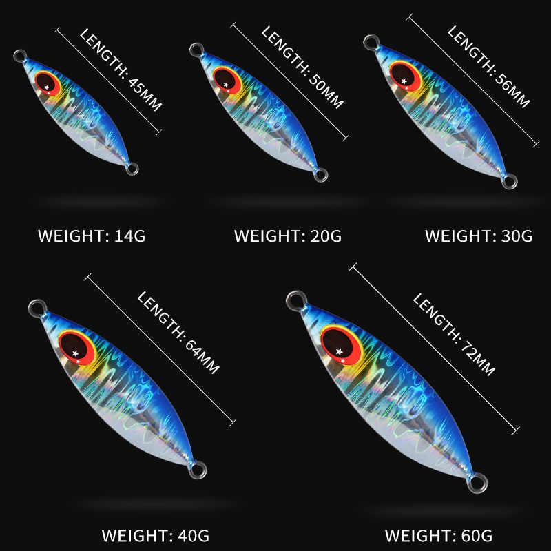 ALLBLUE ATLAS métal Jig cuillère leurre 14G 20G 30G 40G 60G appât artificiel rivage lent gabarits Super dur plomb basse matériel de pêche