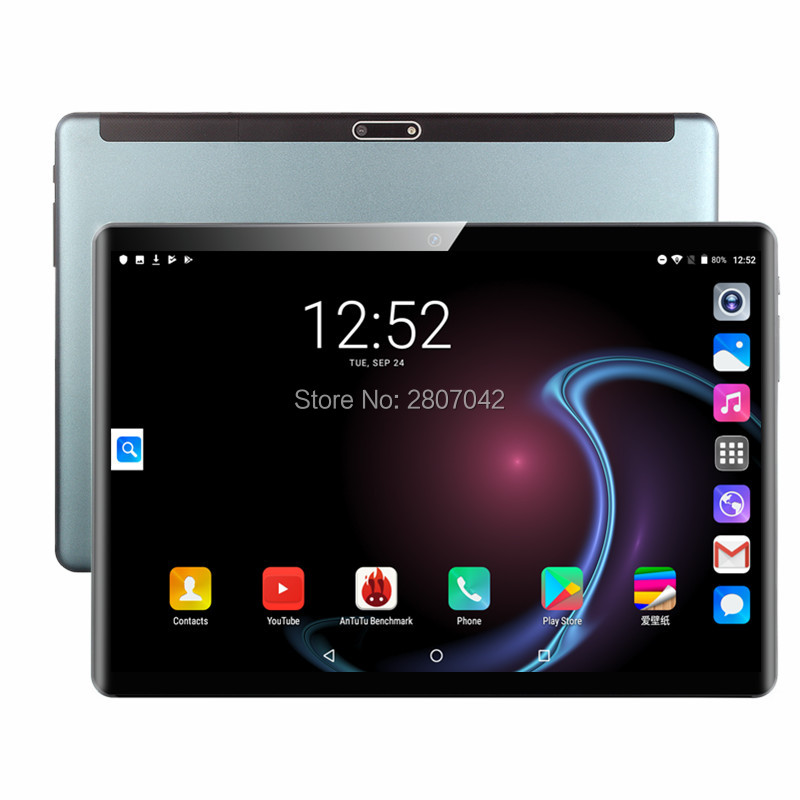 2.5D 10 Inch Tablet PC 8 Core 6GB RAM 128GB ROM Dual SIM Unlocked 3G WiFi 4G LTE Bluetooth Android 9.0 Tablets 10.1 The Tablet