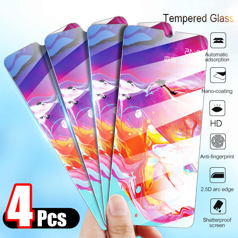 4Pcs Tempered Glass For Samsung Galaxy A80 A70 A60 A50 A40 A30 A20 A10 Screen Protector Protective Glass For Samsung M30 M20 M10
