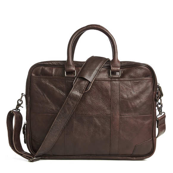 Men' Shoulder  Casual Genuine Leather Business HandBags Briefcase,male For 14 Or 15.6 Inches Laptop Messenger Bags Briefcases