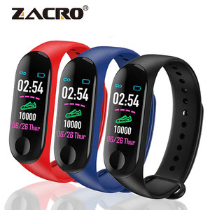 M3 pulseira inteligente de pressão arterial, ao ar livre, à prova d' água, esportiva, monitor de frequência cardíaca, contador de passos, rastreador de fitness, relógio