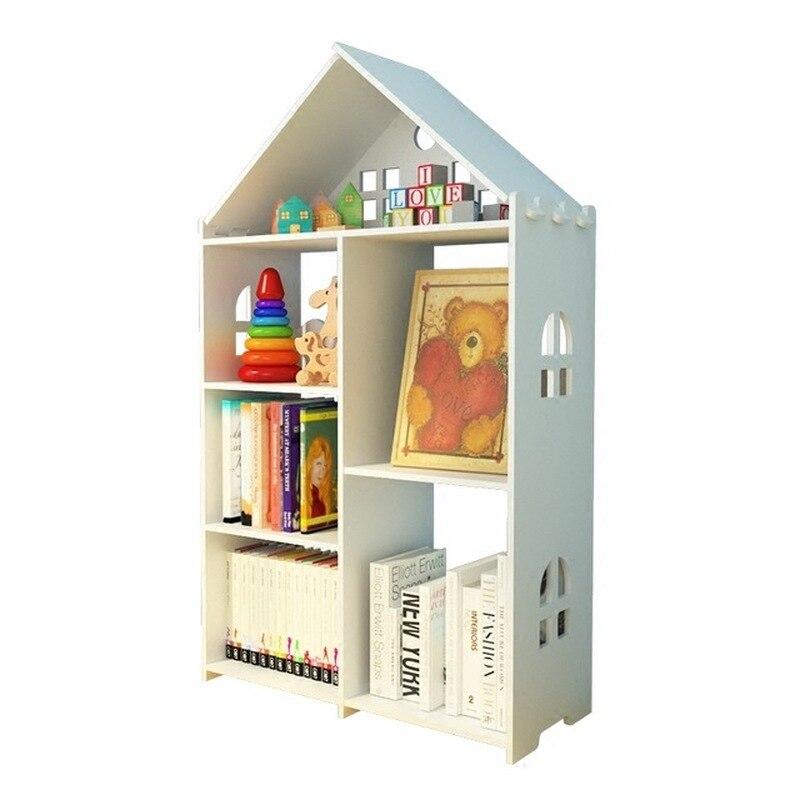Modern Cute Bookshelf For Kids Wood Shelf Children's Picture Book Storage And Orgnizer Student Storage Bookcase Dropshtpping