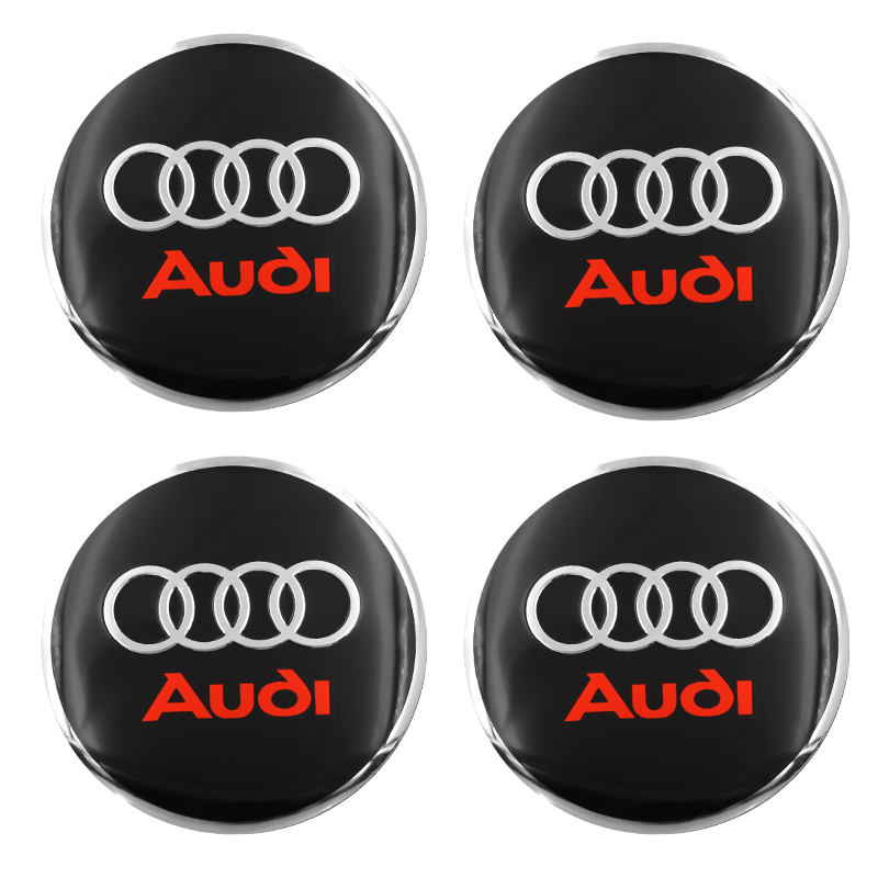 4pcs Car Styling Car Tire Wheel Hubcaps Decorative Sticker For Audi A3 A4 A5 A6 A7 A8 Q3 Q4 Q5 Q6 Q7 B8 Car Accessories
