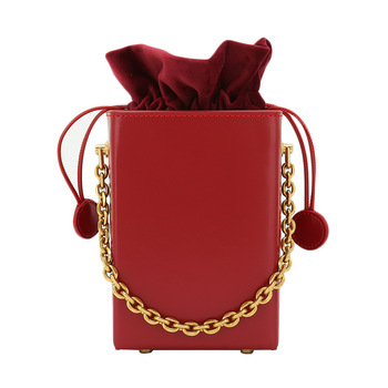 2020 New Style WOMEN'S Bag Chain Shoulder Bag Genuine Leather Hand Square Sling Bag Candy Box Bag