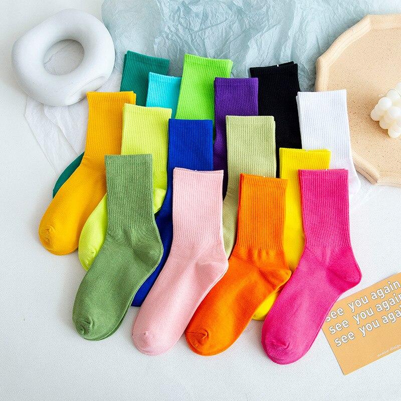 20 шт. = 10 пар, 34,35,36,37.38,39, европейский размер, женские повседневные носки, новинка, милые носки, яркие цвета, Веселые носки, подарок для девочки