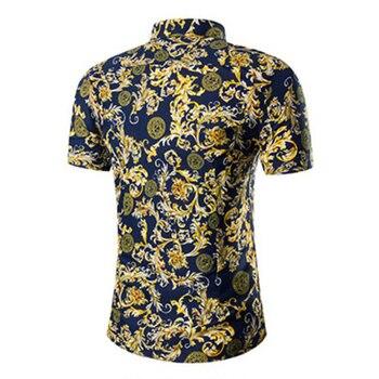 2020 New Men Shirt Summer High Quality Hawaii Shirt  Fashion Print Beach Hawaiian Shirt Men Casual Short Sleeve Shirt Size M-5XL 2