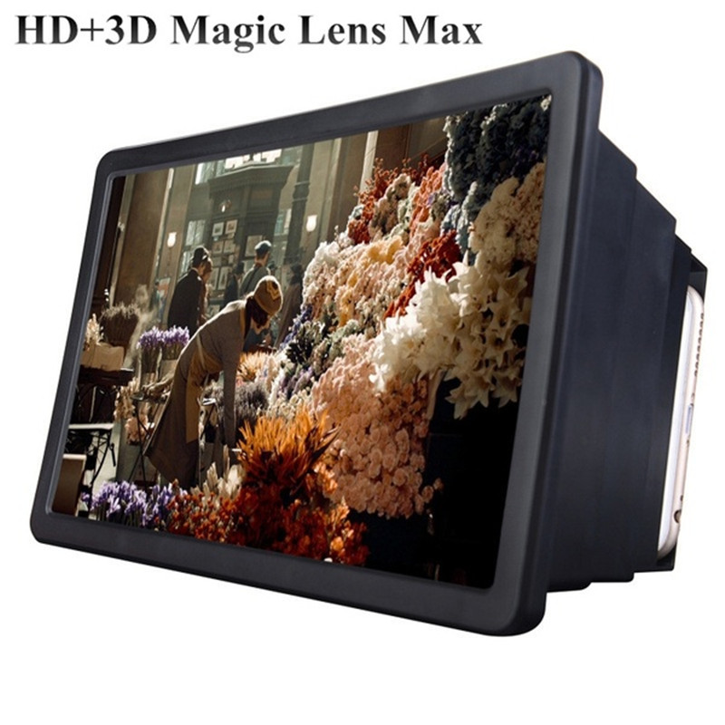 Mobile Phone Screen Magnifier 3D Enlarged Screen Amplifier Magnifier Support Bracket Cellphone Holder