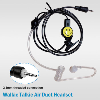 10 pcs Walkie Talkie Smile Earpiece Dual PTT Ear Hanging Headset Earphone for Puxing for Baofeng for Ham Two Way Radio